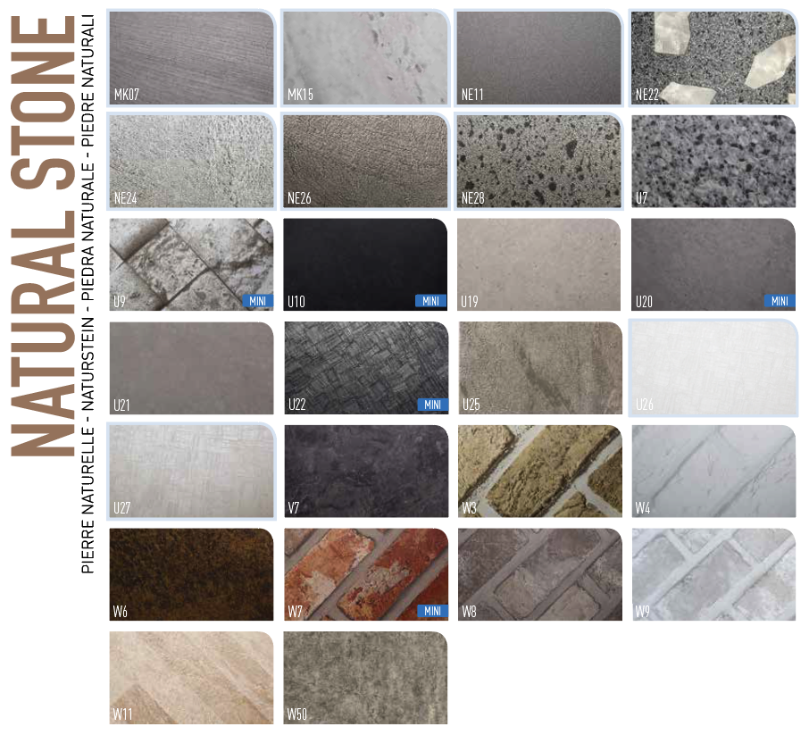 Interieurfolie Natural Stone design